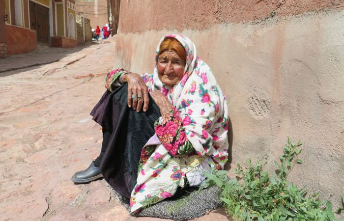a woman in Abyaneh village