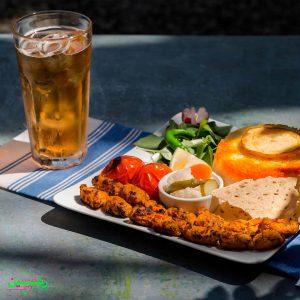 Vegan Persian Kebab - Zamin vegan restaurant