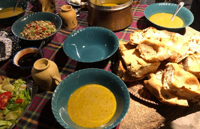 Ab baneh is an ancient vegan dish you can try on our vegan food tours