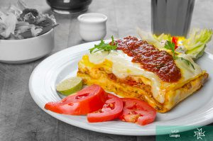 Lasagne from a vegan vegetarian restaurant in Tehran- Iranian Artist Forum