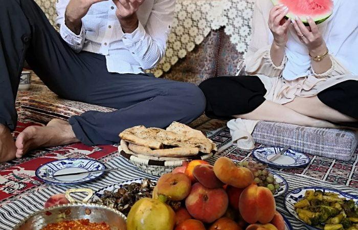 Lovely German Couple on Iran Food Tour - Persian Vegan Cuisine