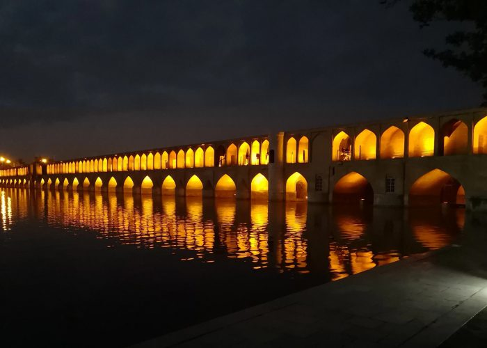 Ancient Siosepol bridge in Isfahan- Iran Vegan Budget Tour